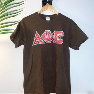 Tops - DPhiE sorority T-shirt with Vera Bradley letters